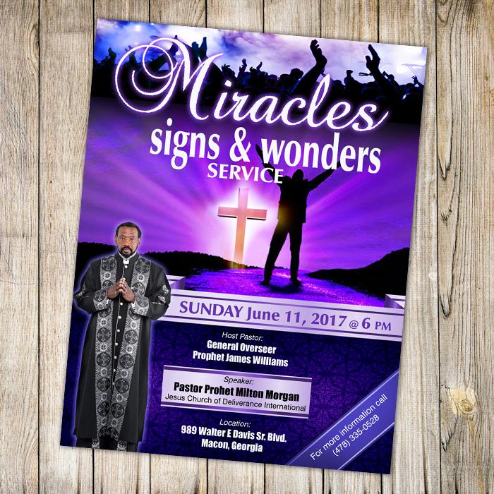 Miracles Signs Amp Wonders Service A Plus Print Shop