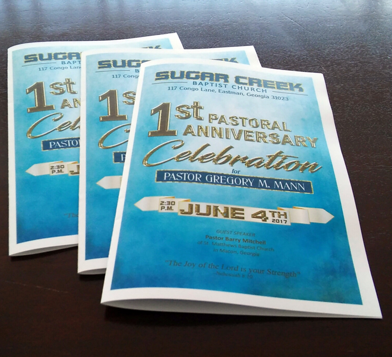 custom design church program a plus print shop