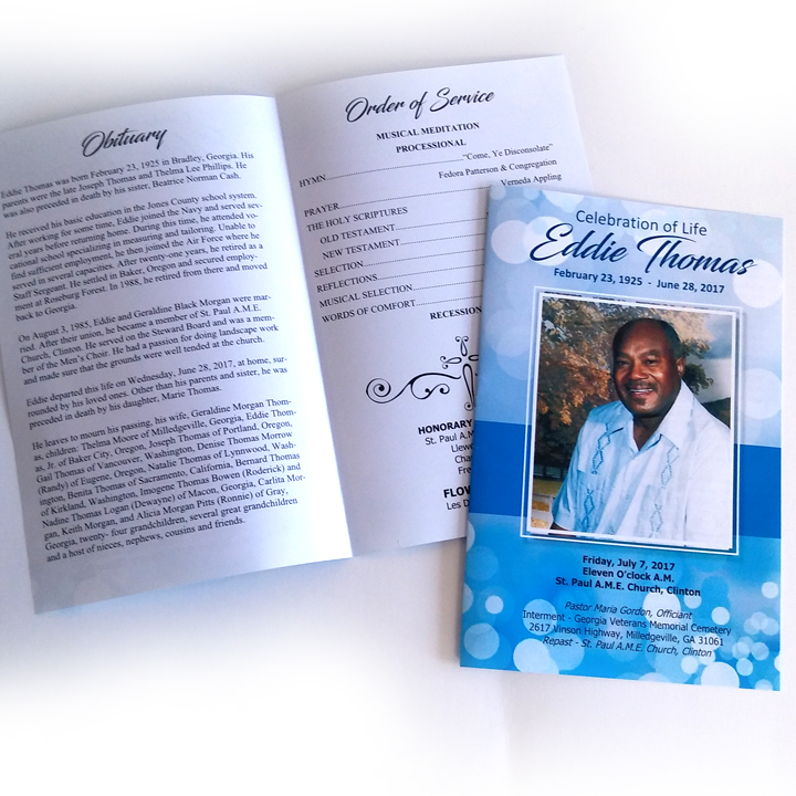 Funeral Programs A Plus Print Shop